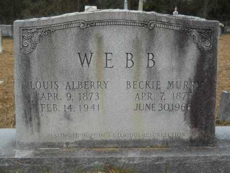 WEBB, LOUIS ALBERRY - Union County, Louisiana | LOUIS ALBERRY WEBB - Louisiana Gravestone Photos
