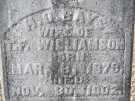 WILLIAMSON, H O (CLOSE UP) - Union County, Louisiana   H O (CLOSE UP) WILLIAMSON - Louisiana Gravestone Photos