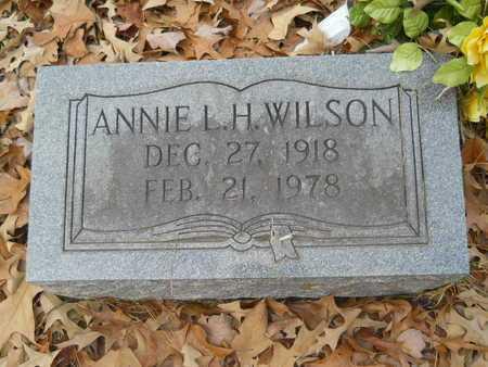 WILSON, ANNIE L H - Union County, Louisiana   ANNIE L H WILSON - Louisiana Gravestone Photos
