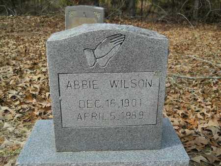 WILSON, ABBIE - Union County, Louisiana   ABBIE WILSON - Louisiana Gravestone Photos