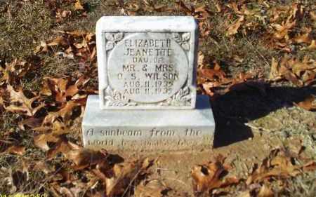 WILSON, ELIZABETH JEANETTE - Union County, Louisiana   ELIZABETH JEANETTE WILSON - Louisiana Gravestone Photos