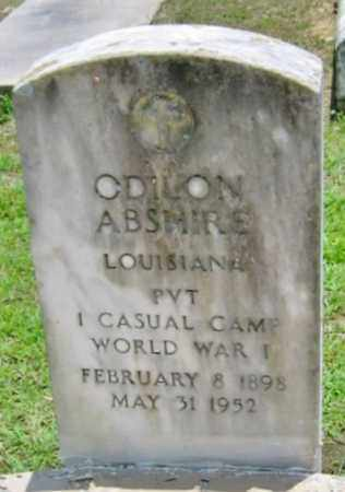 ABSHIRE, ODILON (VETERAN WWI) - Vermilion County, Louisiana | ODILON (VETERAN WWI) ABSHIRE - Louisiana Gravestone Photos