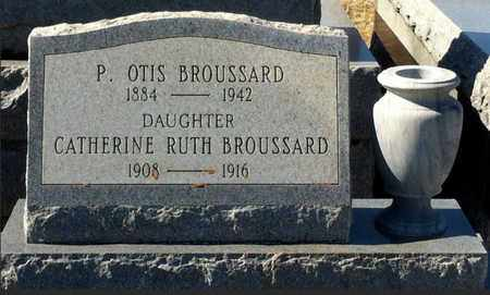 BROUSSARD, P OTIS - Vermilion County, Louisiana | P OTIS BROUSSARD - Louisiana Gravestone Photos