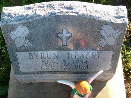 HEBERT, BYRON - Vermilion County, Louisiana | BYRON HEBERT - Louisiana Gravestone Photos