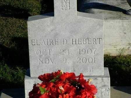 HEBERT, ELAIRE D - Vermilion County, Louisiana   ELAIRE D HEBERT - Louisiana Gravestone Photos