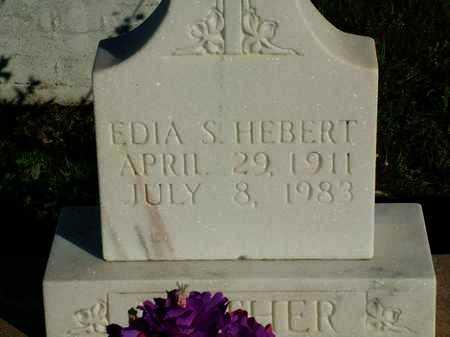 HEBERT, EDIA - Vermilion County, Louisiana | EDIA HEBERT - Louisiana Gravestone Photos