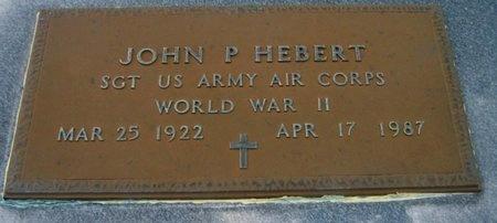 HEBERT, JOHN P  (VETERAN WWII) - Vermilion County, Louisiana   JOHN P  (VETERAN WWII) HEBERT - Louisiana Gravestone Photos