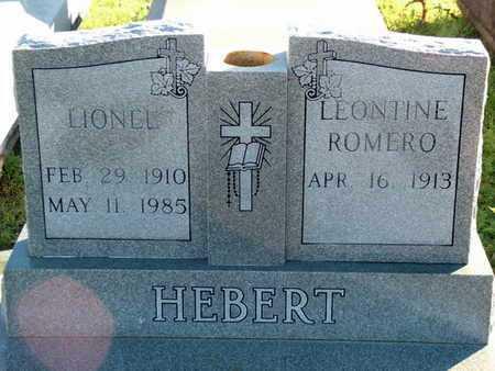 HEBERT, LEONTINE - Vermilion County, Louisiana | LEONTINE HEBERT - Louisiana Gravestone Photos