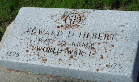 HEBERT, EDWARD D (VETERAN WWI) - Vermilion County, Louisiana   EDWARD D (VETERAN WWI) HEBERT - Louisiana Gravestone Photos