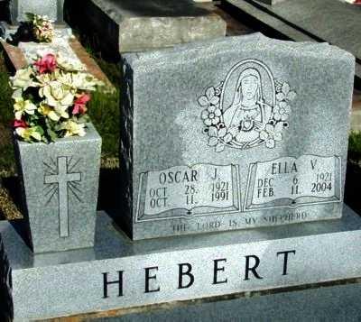 HEBERT, ELLA V - Vermilion County, Louisiana | ELLA V HEBERT - Louisiana Gravestone Photos