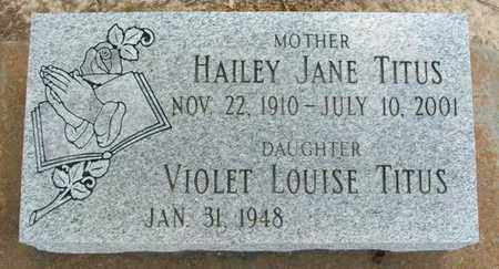 REED TITUS, HAILEY JANE - Vermilion County, Louisiana   HAILEY JANE REED TITUS - Louisiana Gravestone Photos