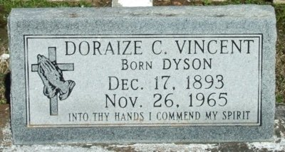 VINCENT, DORAIZE C - Vermilion County, Louisiana | DORAIZE C VINCENT - Louisiana Gravestone Photos