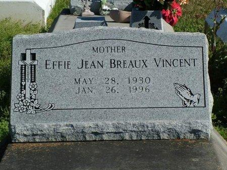 VINCENT, EFFIE JEAN - Vermilion County, Louisiana | EFFIE JEAN VINCENT - Louisiana Gravestone Photos
