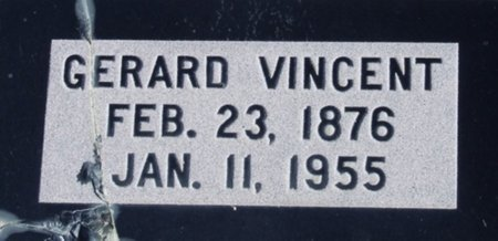 VINCENT, GERARD - Vermilion County, Louisiana | GERARD VINCENT - Louisiana Gravestone Photos