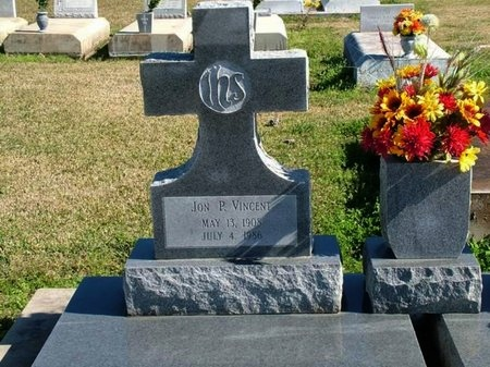 VINCENT, JON P - Vermilion County, Louisiana | JON P VINCENT - Louisiana Gravestone Photos