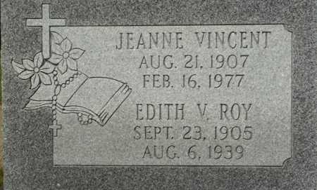 VINCENT, JEANNE - Vermilion County, Louisiana | JEANNE VINCENT - Louisiana Gravestone Photos