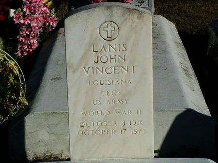 VINCENT, LANIS JOHN  (VETERAN WWII) - Vermilion County, Louisiana | LANIS JOHN  (VETERAN WWII) VINCENT - Louisiana Gravestone Photos