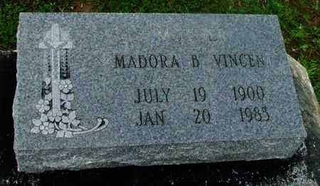 VINCENT, MADORA B - Vermilion County, Louisiana | MADORA B VINCENT - Louisiana Gravestone Photos