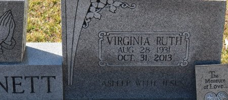 BENNETT, VIRGINIA RUTH (CLOSE UP) - Vernon County, Louisiana   VIRGINIA RUTH (CLOSE UP) BENNETT - Louisiana Gravestone Photos