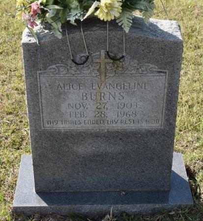 BURNS, ALICE EVANGELINE - Vernon County, Louisiana | ALICE EVANGELINE BURNS - Louisiana Gravestone Photos