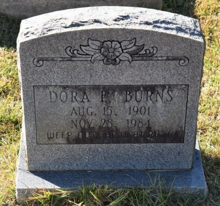 BURNS, DORA E - Vernon County, Louisiana | DORA E BURNS - Louisiana Gravestone Photos