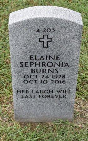 BURNS, ELAINE SEPHRONIA - Vernon County, Louisiana | ELAINE SEPHRONIA BURNS - Louisiana Gravestone Photos