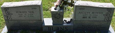 BURNS, HOWARD NEIL - Vernon County, Louisiana   HOWARD NEIL BURNS - Louisiana Gravestone Photos