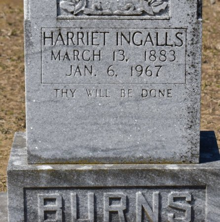 BURNS, HARRIET (CLOSE UP) - Vernon County, Louisiana   HARRIET (CLOSE UP) BURNS - Louisiana Gravestone Photos