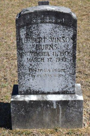 BURNS, HERBERT VINSON - Vernon County, Louisiana   HERBERT VINSON BURNS - Louisiana Gravestone Photos