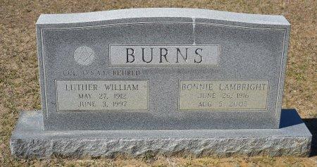 BURNS, LUTHER WILLIAM (VETERAN) - Vernon County, Louisiana | LUTHER WILLIAM (VETERAN) BURNS - Louisiana Gravestone Photos