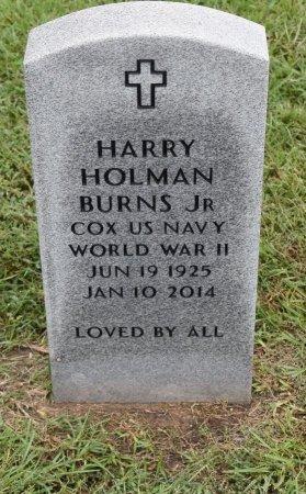 BURNS , HARRY HOLMAN, JR  (VETERAN WWII) - Vernon County, Louisiana | HARRY HOLMAN, JR  (VETERAN WWII) BURNS  - Louisiana Gravestone Photos