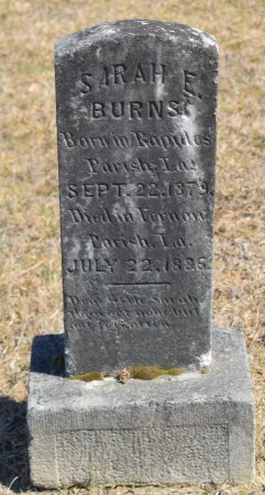 BURNS, SARAH E - Vernon County, Louisiana   SARAH E BURNS - Louisiana Gravestone Photos