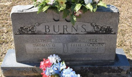 BURNS, EFFIE - Vernon County, Louisiana | EFFIE BURNS - Louisiana Gravestone Photos