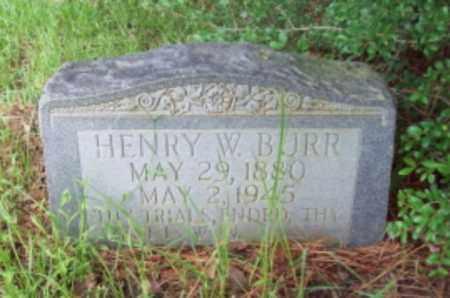 BURR, HENRY W - Vernon County, Louisiana | HENRY W BURR - Louisiana Gravestone Photos