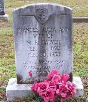 CARVER, FRANCES JULIA ANN - Vernon County, Louisiana | FRANCES JULIA ANN CARVER - Louisiana Gravestone Photos
