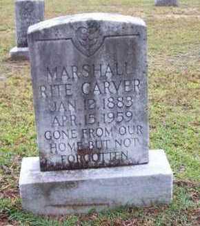 CARVER, MARSHALL RITE - Vernon County, Louisiana   MARSHALL RITE CARVER - Louisiana Gravestone Photos