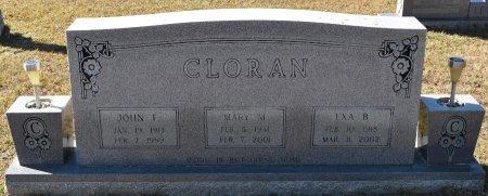CLORAN, JOHN F - Vernon County, Louisiana | JOHN F CLORAN - Louisiana Gravestone Photos