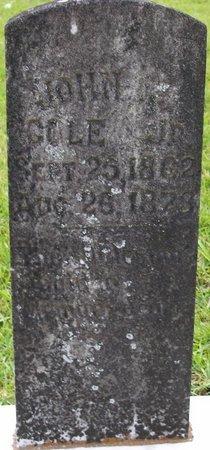 COLE, JOHN J, JR - Vernon County, Louisiana | JOHN J, JR COLE - Louisiana Gravestone Photos