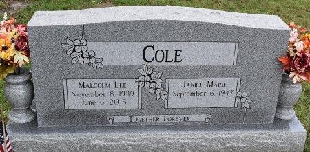 COLE, MALCOLM LEE - Vernon County, Louisiana   MALCOLM LEE COLE - Louisiana Gravestone Photos