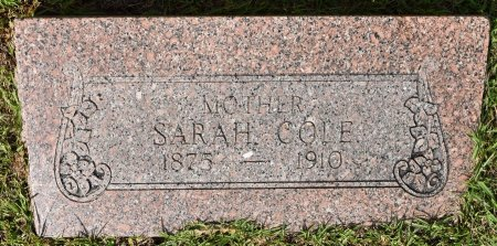 COLE, SARAH - Vernon County, Louisiana | SARAH COLE - Louisiana Gravestone Photos
