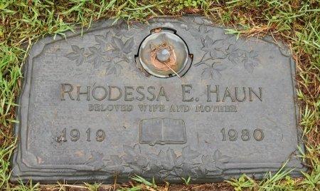 HAUN, RHODESSA E - Vernon County, Louisiana | RHODESSA E HAUN - Louisiana Gravestone Photos