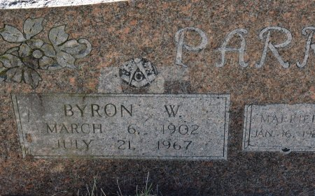 PARKER, BYRON W (CLOSE UP) - Vernon County, Louisiana   BYRON W (CLOSE UP) PARKER - Louisiana Gravestone Photos