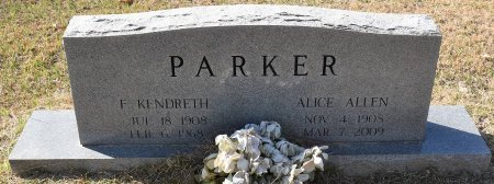 PARKER, ALICE - Vernon County, Louisiana   ALICE PARKER - Louisiana Gravestone Photos