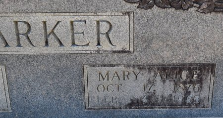 PARKER, MARY ALICE (CLOSE UP) - Vernon County, Louisiana | MARY ALICE (CLOSE UP) PARKER - Louisiana Gravestone Photos