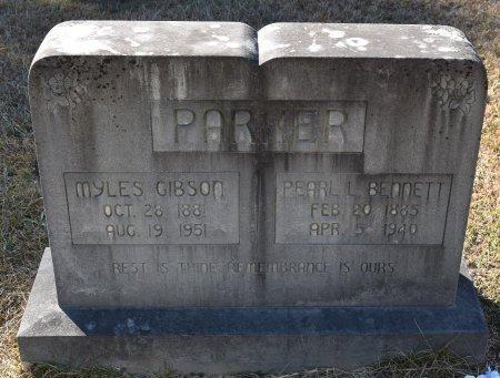 PARKER, MYLES GIBSON - Vernon County, Louisiana   MYLES GIBSON PARKER - Louisiana Gravestone Photos