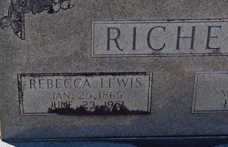 RICHEY, REBECCA (CLOSE UP) - Vernon County, Louisiana | REBECCA (CLOSE UP) RICHEY - Louisiana Gravestone Photos