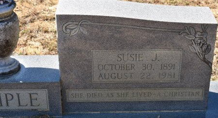 TEMPLE, SUSIE J (CLOSE UP) - Vernon County, Louisiana | SUSIE J (CLOSE UP) TEMPLE - Louisiana Gravestone Photos