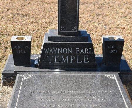 TEMPLE, WAYNON EARL (CLOSE UP) - Vernon County, Louisiana   WAYNON EARL (CLOSE UP) TEMPLE - Louisiana Gravestone Photos