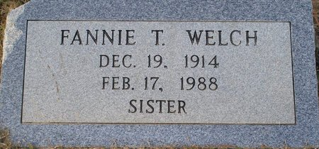 WELCH, FANNIE T - Vernon County, Louisiana | FANNIE T WELCH - Louisiana Gravestone Photos