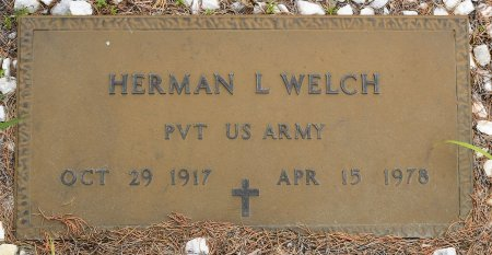 WELCH, HERMAN LESTER (VETERAN) - Vernon County, Louisiana | HERMAN LESTER (VETERAN) WELCH - Louisiana Gravestone Photos